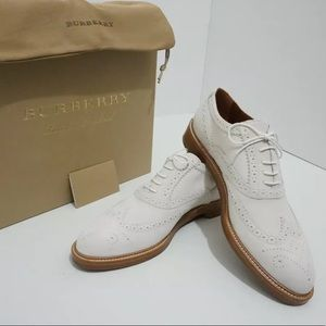 🆕 Burberry Flats Oxfords Sneakers Off White US 11